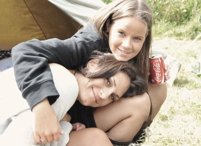 En booster mot stress er sosial støtte - her er jeg sammen med min gode venn Stine. Hun stiller alltid opp!
