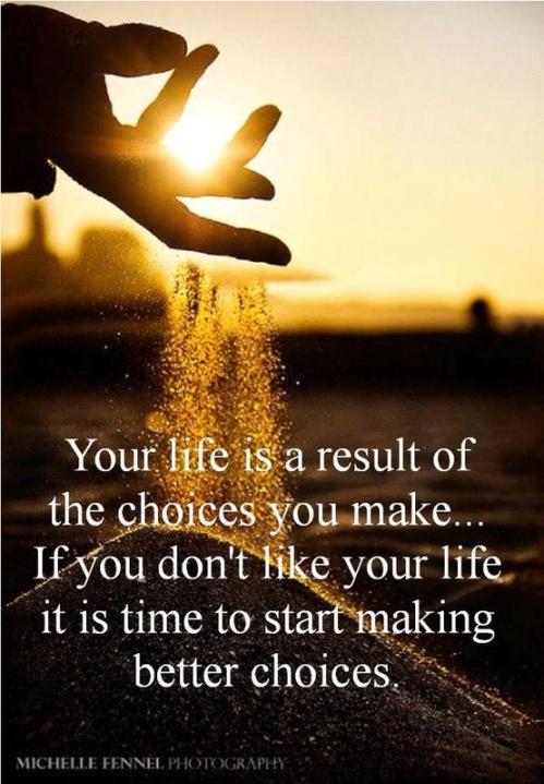 Jeg tror på at man gjennom valgene man tar skaper sitt eget liv.